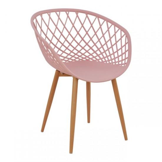 Кресло Ариадне розов цвят