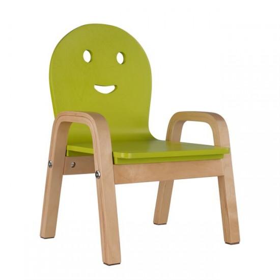 Детски стол Смайл зелен