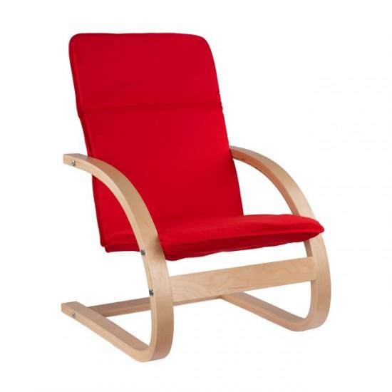 Детски стол Релакс червен