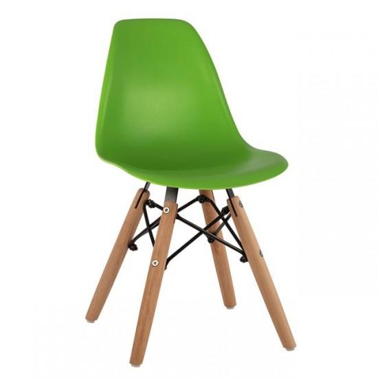 Детски стол Туист зелен полипропилен