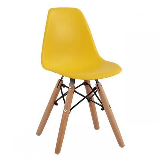 Детски стол Туист жълт полипропилен