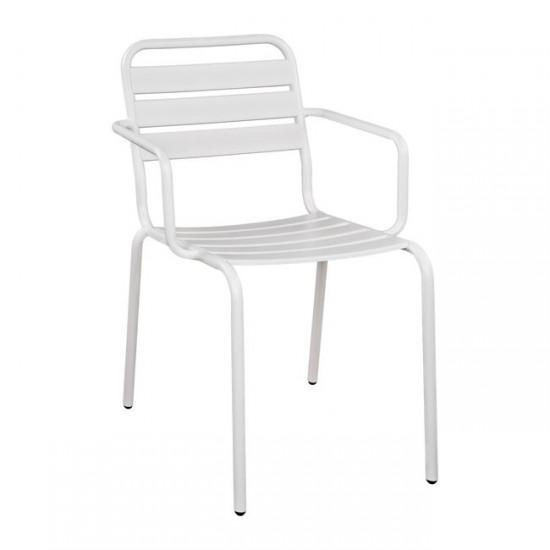 Метален стол Ричард бял