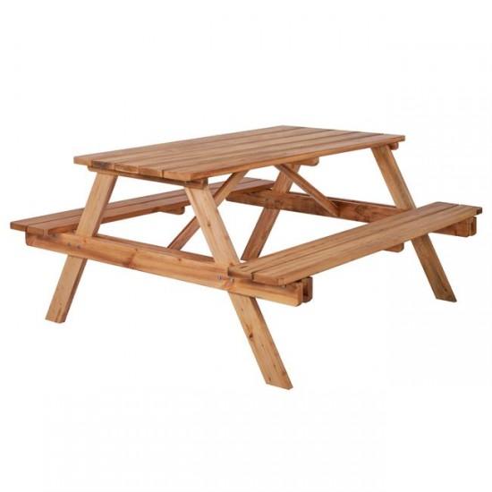 Градинска маса с пейки Пикник