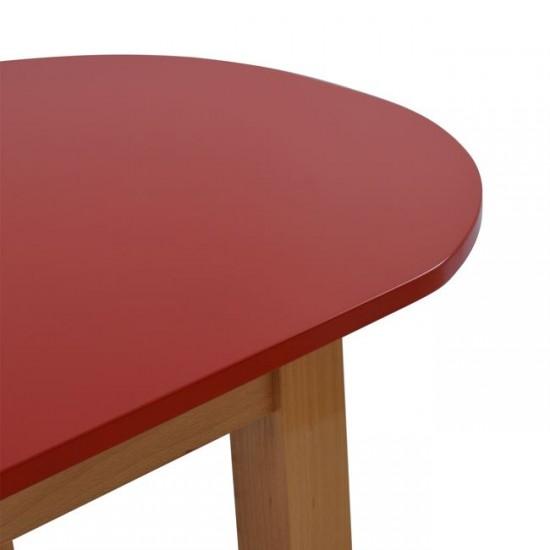 Детска маса Овал червена