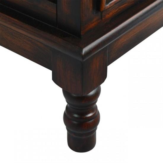 Дървен скрин Лесли в кафяв цвят