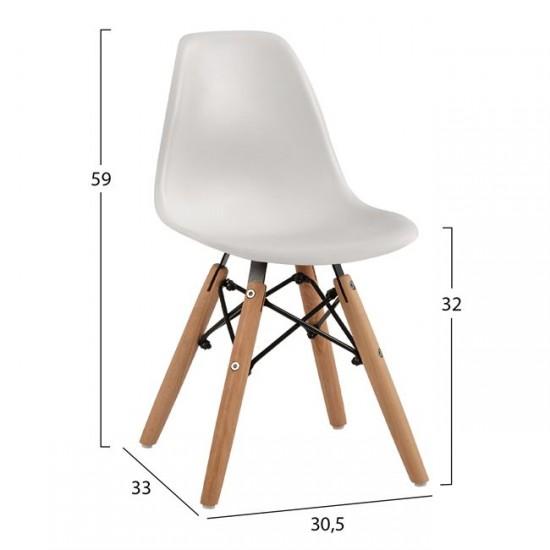 Детски стол Туист бял полипропилен