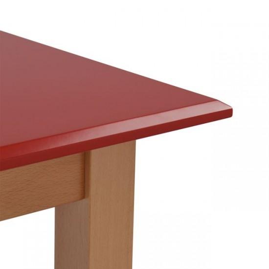 Бар маса Вегас 120x70 червена