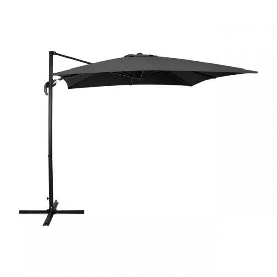 Висящ чадър Про 3x3 м черен