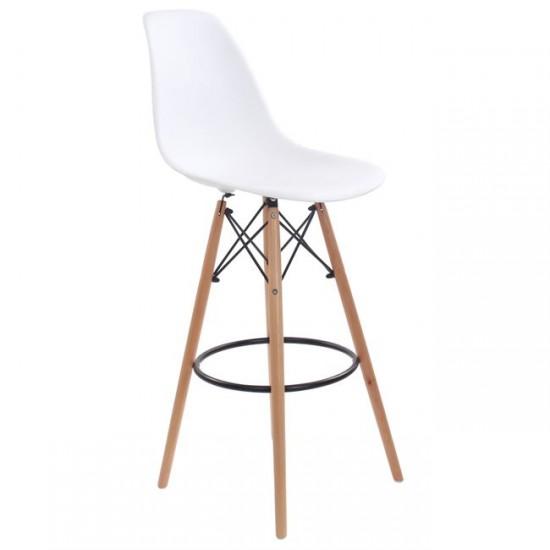 Бар стол Арт 2 бял цвят