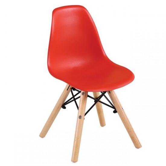 Детски стол Нордик червен полипропилен